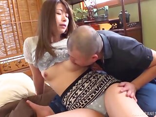 Amateur girlfriend from Japan gets fucked passionately on the floor