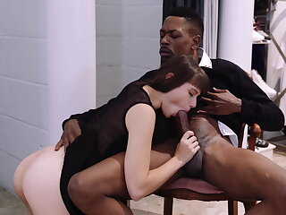Luna rival enjoys anal with black stud