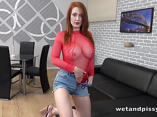 Redhead named Isabella Lui just feels fabulous masturbating herself