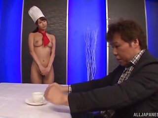 Naughty chef Ayami Shinka gets fucked unchanging from behind. HD movie