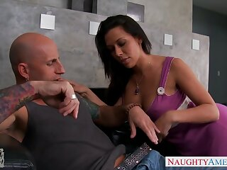 Lustful dad's show one's age Rachel Starr gets into pants and sucks beamy bushwa