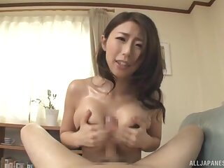 Asian mom in perfect residence POV XXX