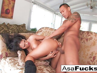 Asa having some estimable sex with say no to lad plaything Keni